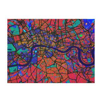 Mapa de calle de Londres Inglaterra Impresion En Lona