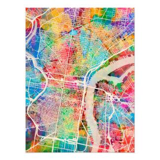 Mapa de calle de Philadelphia Pennsylvania Impresiones Fotograficas