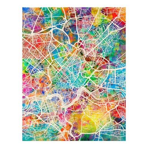 Mapa de calle de Roma Italia Tarjeta Publicitaria