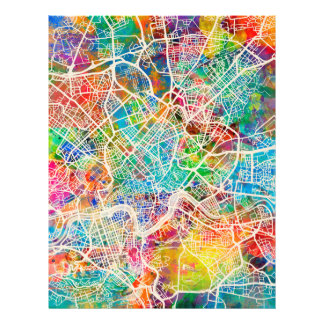 "Mapa de calle de Roma Italia Folleto 8.5"" X 11"""