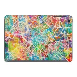 Mapa de calle de Roma Italia Fundas De iPad Mini