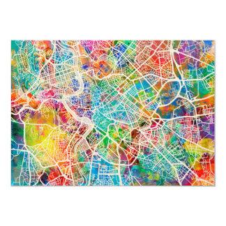 """Mapa de calle de Roma Italia Invitación 5"""" X 7"""""""