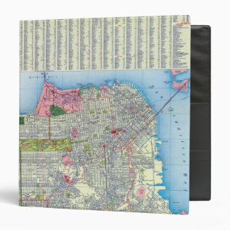"""Mapa de calle de San Francisco Carpeta 1 1/2"""""""