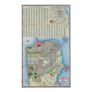 Mapa de calle de San Francisco Póster