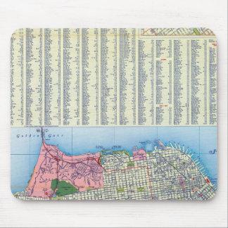 Mapa de calle de San Francisco Tapete De Ratones