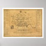 Mapa de calle del SC de Charleston 1788 Impresiones