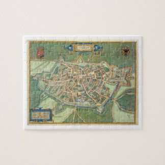 """Mapa de Cambrai, de """"Civitates Orbis Terrarum"""" cer Rompecabeza Con Fotos"""