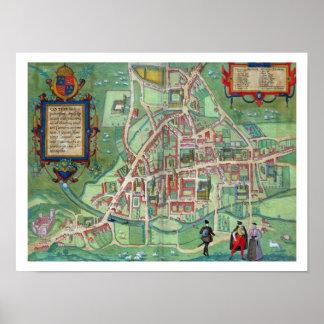Mapa de Cambridge, de 'Civitates Orbis Terrarum Impresiones