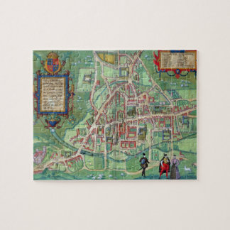 Mapa de Cambridge, de 'Civitates Orbis Terrarum Rompecabeza