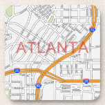 Mapa de camino de Atlanta Peachtree Posavasos De Bebida
