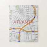 Mapa de camino de Atlanta Peachtree Rompecabeza