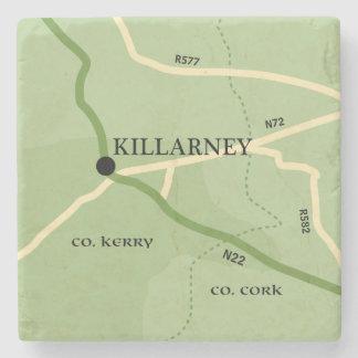 Mapa de camino de Kerry Irlanda del condado de Posavasos De Piedra
