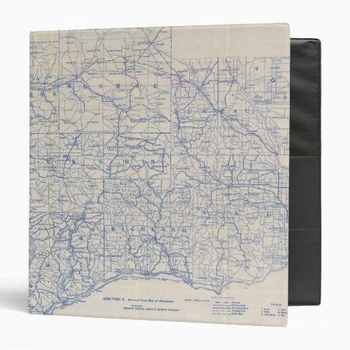 Mapa de camino de la bicicleta de Wisconsin