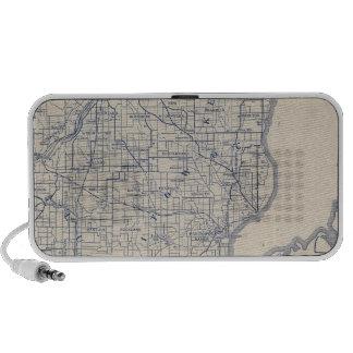 Mapa de camino de la bicicleta de Wisconsin 2 Laptop Altavoz