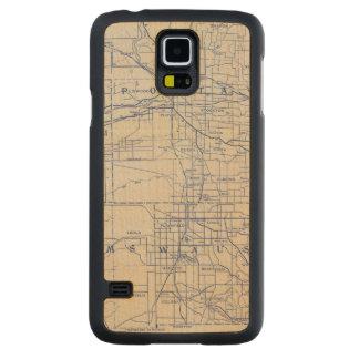Mapa de camino de la bicicleta de Wisconsin 2 Funda De Galaxy S5 Slim Arce
