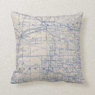 Mapa de camino de la bicicleta de Wisconsin 2 Almohada