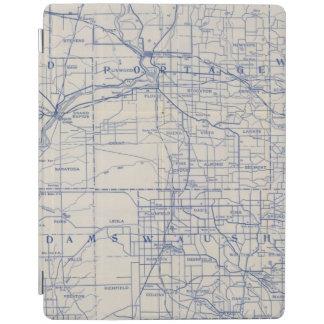 Mapa de camino de la bicicleta de Wisconsin 2 Cubierta De iPad