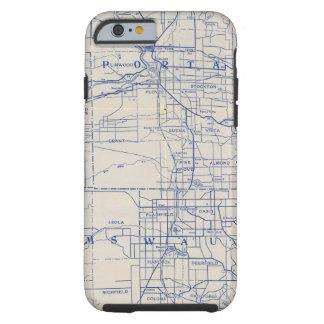 Mapa de camino de la bicicleta de Wisconsin 2 Funda De iPhone 6 Tough