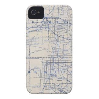Mapa de camino de la bicicleta de Wisconsin 2 iPhone 4 Fundas
