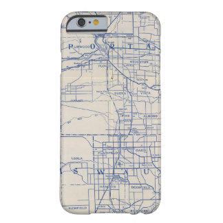 Mapa de camino de la bicicleta de Wisconsin 2 Funda De iPhone 6 Barely There