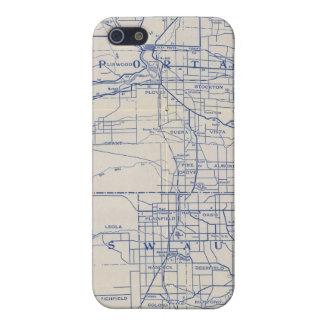 Mapa de camino de la bicicleta de Wisconsin 2 iPhone 5 Coberturas