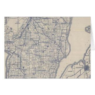 Mapa de camino de la bicicleta de Wisconsin 2 Tarjeta