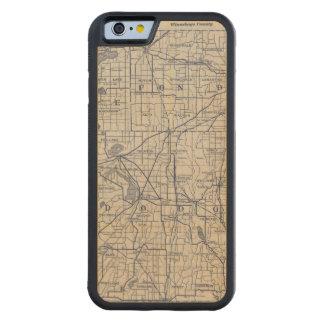 Mapa de camino de la bicicleta de Wisconsin 4 Funda De iPhone 6 Bumper Arce