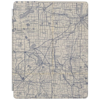 Mapa de camino de la bicicleta de Wisconsin 4 Cover De iPad