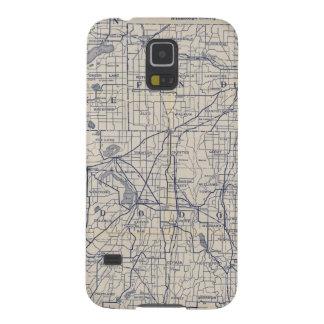 Mapa de camino de la bicicleta de Wisconsin 4 Carcasa Para Galaxy S5