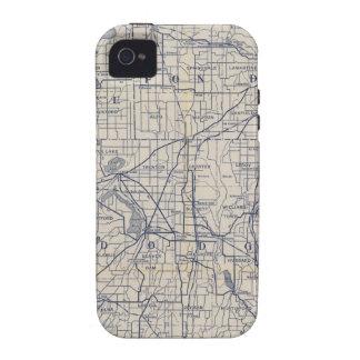 Mapa de camino de la bicicleta de Wisconsin 4 Vibe iPhone 4 Carcasas