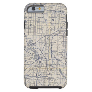 Mapa de camino de la bicicleta de Wisconsin 4 Funda De iPhone 6 Tough