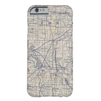 Mapa de camino de la bicicleta de Wisconsin 4 Funda Para iPhone 6 Barely There