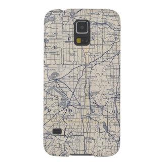 Mapa de camino de la bicicleta de Wisconsin 4 Funda De Galaxy S5