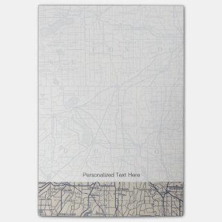 Mapa de camino de la bicicleta de Wisconsin 4 Post-it Notas