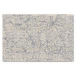 Mapa de camino de la bicicleta de Wisconsin 4 Papel De Seda Pequeño