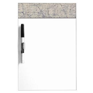 Mapa de camino de la bicicleta de Wisconsin 4 Pizarras Blancas