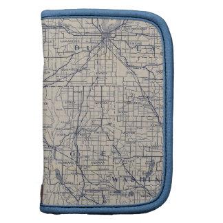 Mapa de camino de la bicicleta de Wisconsin 4 Organizador