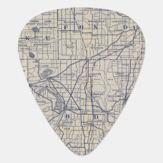 Mapa de camino de la bicicleta de Wisconsin 4 Púa De Guitarra