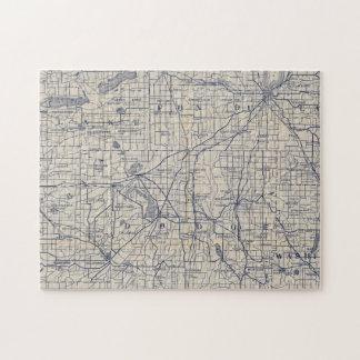 Mapa de camino de la bicicleta de Wisconsin 4 Puzzle