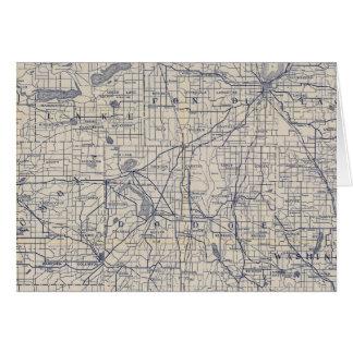 Mapa de camino de la bicicleta de Wisconsin 4 Felicitación
