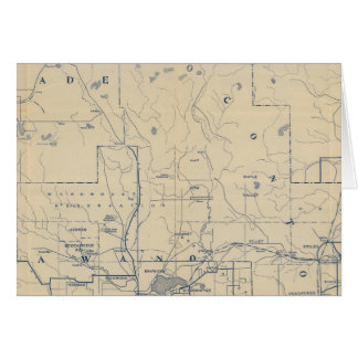 Mapa de camino de la bicicleta de Wisconsin 5 Felicitaciones