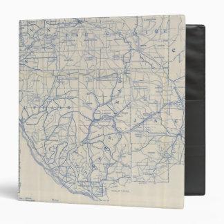 "Mapa de camino de la bicicleta de Wisconsin 6 Carpeta 1 1/2"""