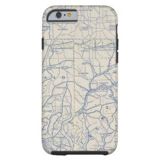 Mapa de camino de la bicicleta de Wisconsin 6 Funda De iPhone 6 Tough