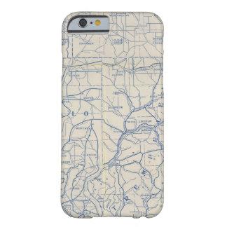 Mapa de camino de la bicicleta de Wisconsin 6 Funda Para iPhone 6 Barely There