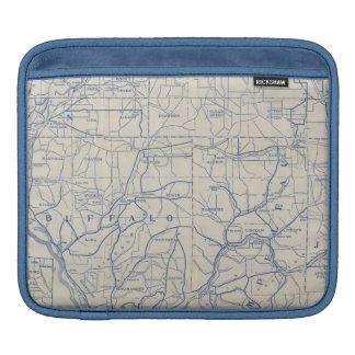 Mapa de camino de la bicicleta de Wisconsin 6 Funda Para iPads
