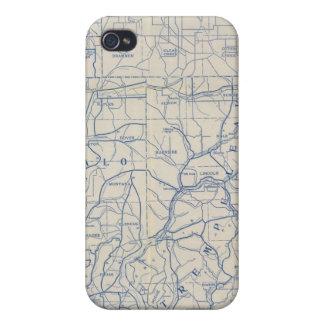 Mapa de camino de la bicicleta de Wisconsin 6 iPhone 4 Protectores