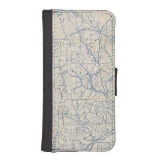 Mapa de camino de la bicicleta de Wisconsin 6 Fundas Tipo Cartera Para iPhone 5