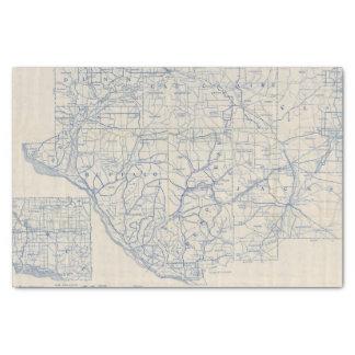 Mapa de camino de la bicicleta de Wisconsin 6 Papel De Seda Pequeño