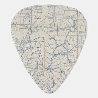 Mapa de camino de la bicicleta de Wisconsin 6 Púa De Guitarra