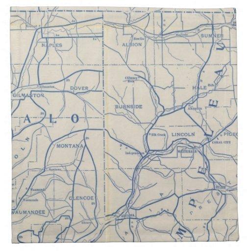 Mapa de camino de la bicicleta de Wisconsin 6 Servilleta